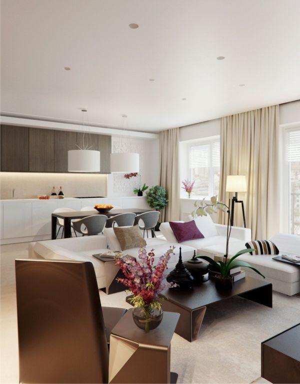 prächtig modern Wohnzimmer Designs tisch vase couch vorhänge - moderne wohnzimmer design