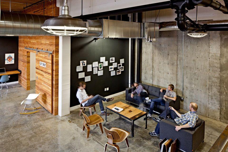 Creative Industrial Office Interior Design Home Design Ideas