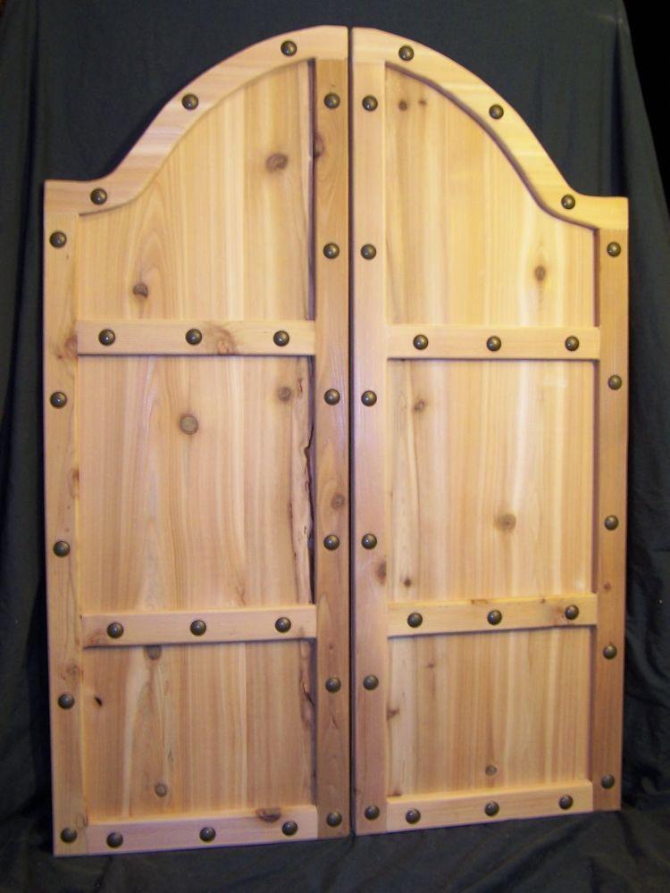 Custom Size Saloon Doors Cafe Swinging Rustic Western Decor 30 32