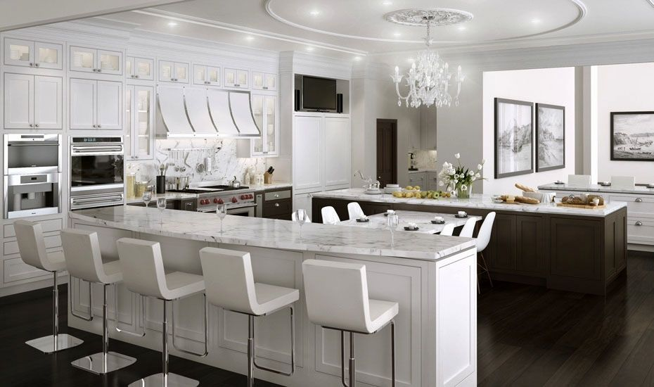 Downsview Kitchens and Fine Custom Cabinetry - multiple island ...