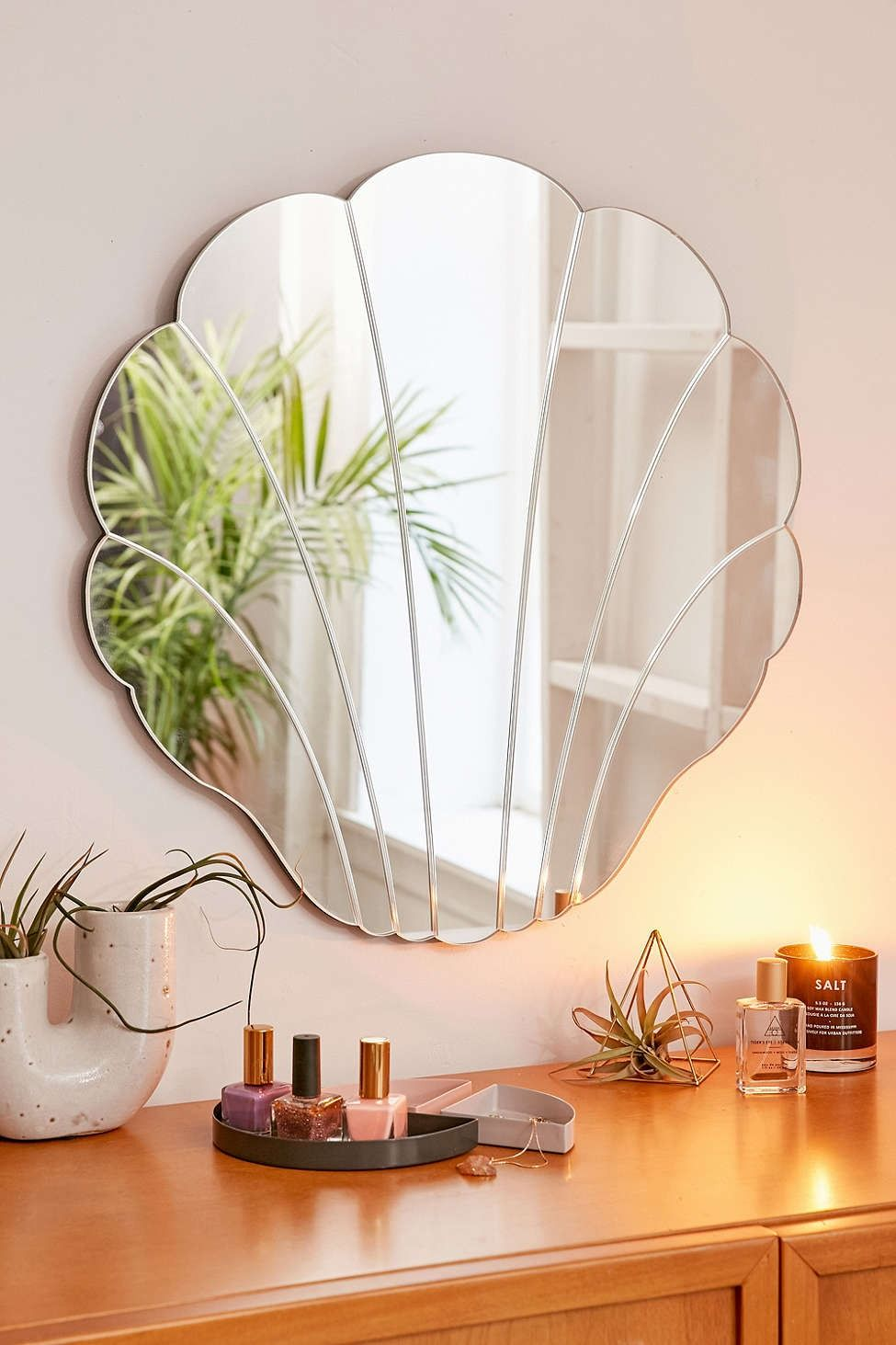 Lovely Shell Mirror   Urban Outfitters Home Decor Inspiration, Mirror Inspiration,  Coastal Mirrors, Decorative