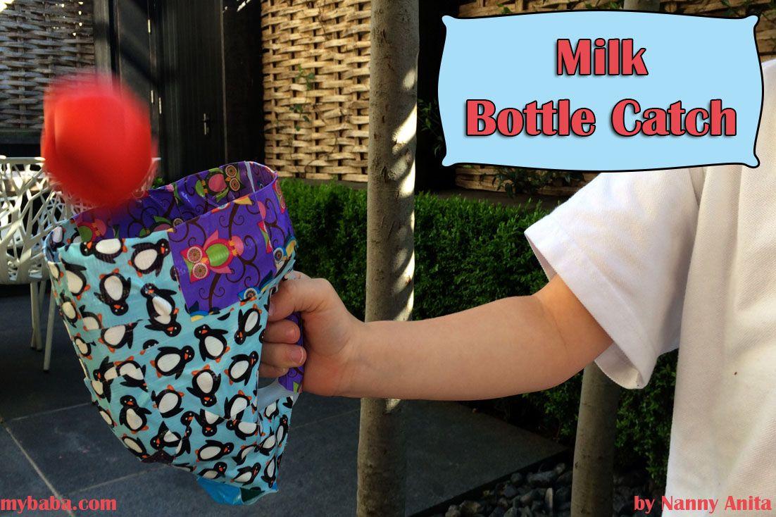 A DIY Game of Milk Bottle Catch Old milk bottles, Things