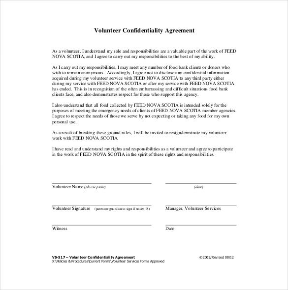 10 Confidentiality Agreement Templates Word Excel Pdf