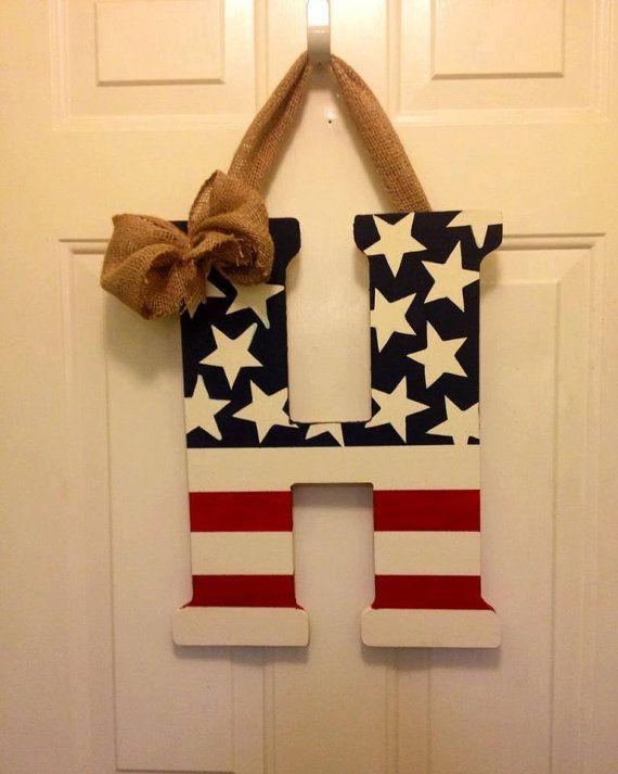 Wooden American Flag Letter American Flag Wooden American Flag Patriotic Crafts American Flag