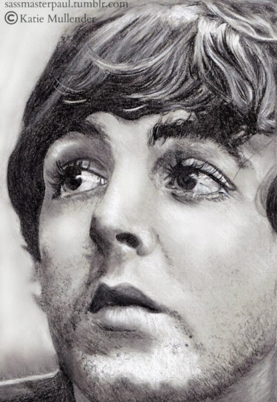PaulMcCartney Fan Art We Are Totally Blown Away By This Ultra Detailed Charcoal Sketch Talented Katie Mullender Sassmasterpaultumblr
