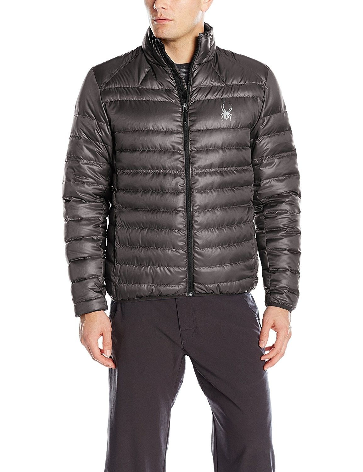 Mens Prymo Quilted Mock Neck Puffer Jacket Polar/Black