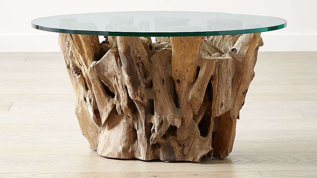 Fine Driftwood Coffee Table With Round Glass Top In 2019 Lorch Uwap Interior Chair Design Uwaporg