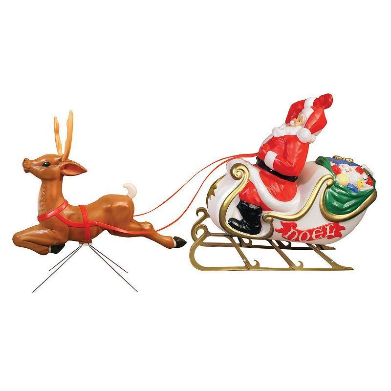 General Foam Plastics Santa\u0027s Sleigh Indoor / Outdoor Christmas