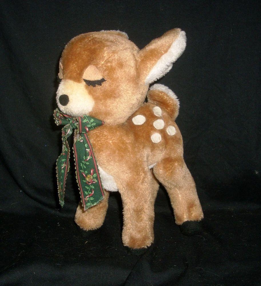 12 Vintage 1974 Dakin Christmas Reindeer Brown Deer Stuffed Animal Plush Toy Deer Stuffed Animal Baby Stuffed Animals Animal Plush Toys [ 1000 x 913 Pixel ]