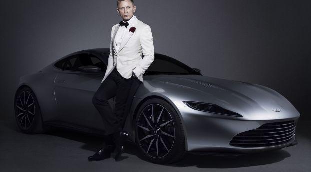 Daniel Craig 007 James Bond Aston Martin Car Photoshoot Wallpaper Hd Celebrities 4k Wallpapers Images Photos And Background Aston Martin Db10 Aston Martin Daniel Craig James Bond