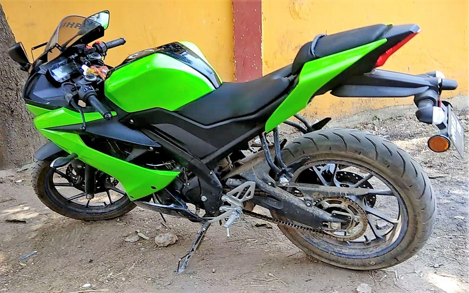Yamaha R15 V3 Ninja Green Wrap By Misty Stickers (Patna) | Maxabout