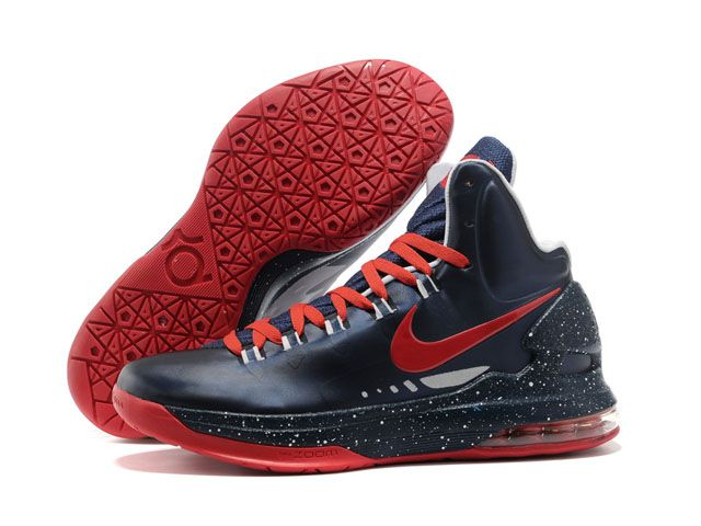 brand new 824d3 8bf6b Cheap Navy Red Nike Zoom KD V 554988 100 For Sale