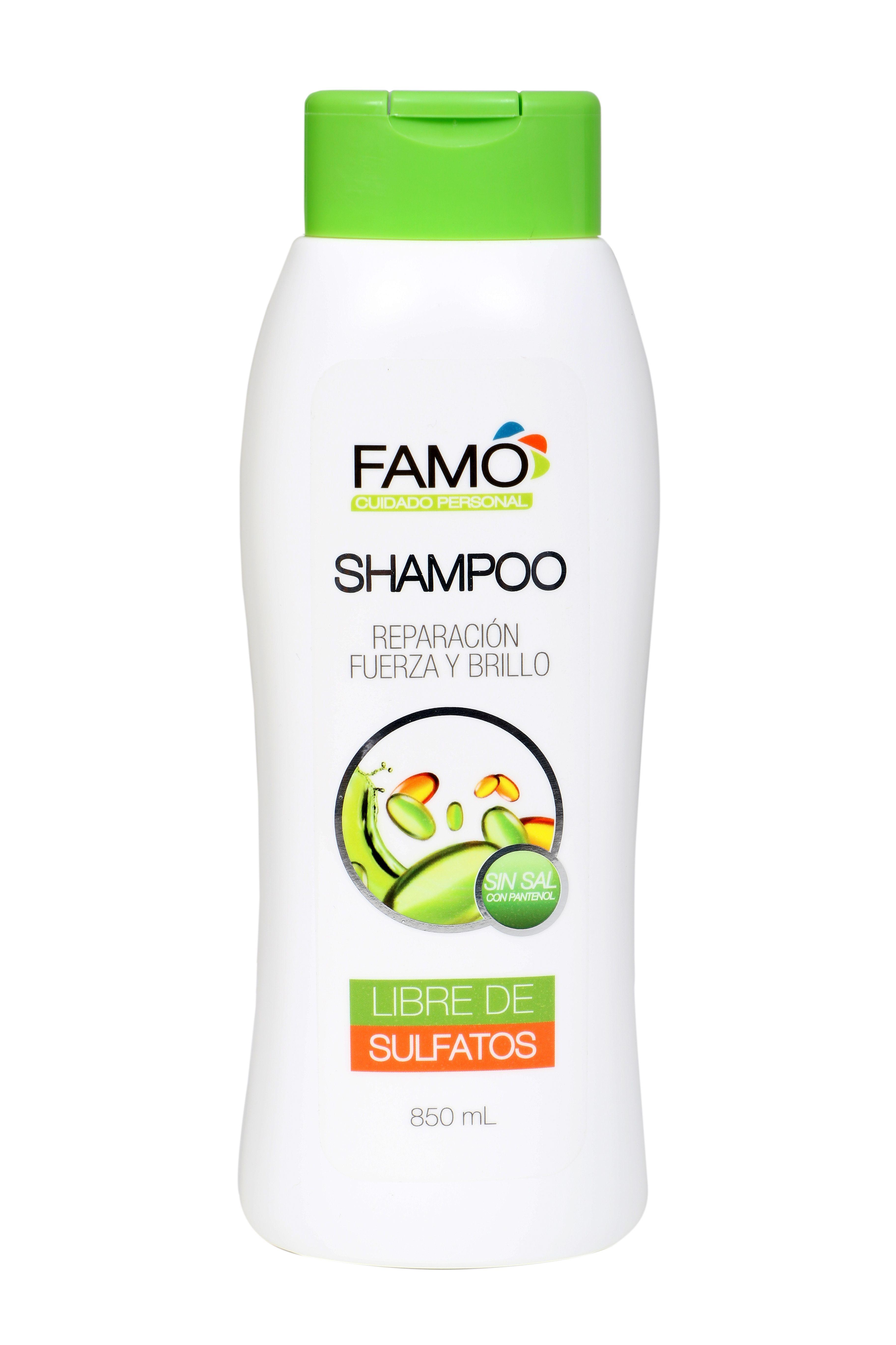 Sabíasque Famo Cuenta Con El Nuevo Shampoo Con Pantenol Para La Reparación Del Cabello Que Le Brinda Fuerza Y Brillo Ad Mustard Bottle Shampoo Condiments