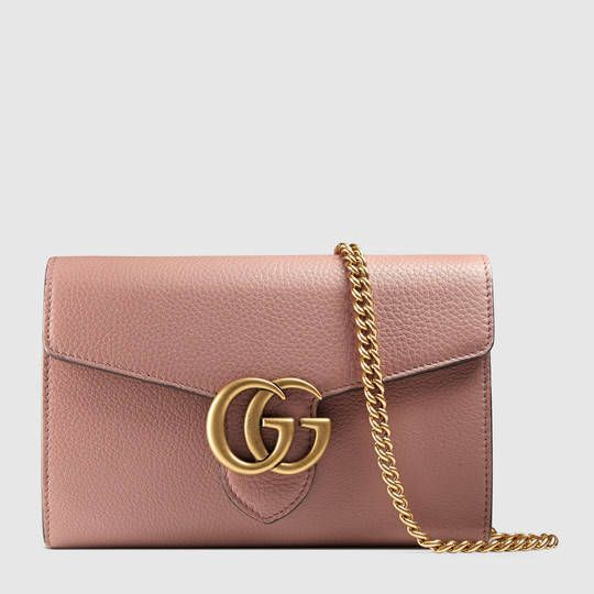 00ba626a6b92 Gucci GG Marmont leather mini chain bag