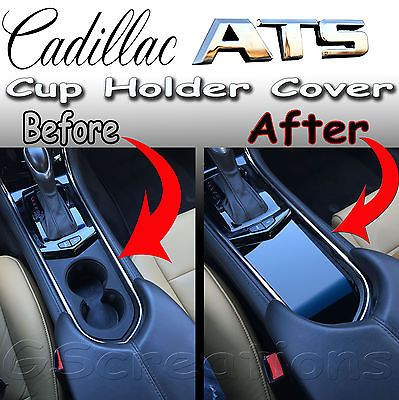 cadillac ats front cup holder cover solid style 2013 2014 2015 in