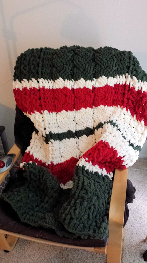 My own design: I used the free Lion Brand Celtic Afghan pattern for ...