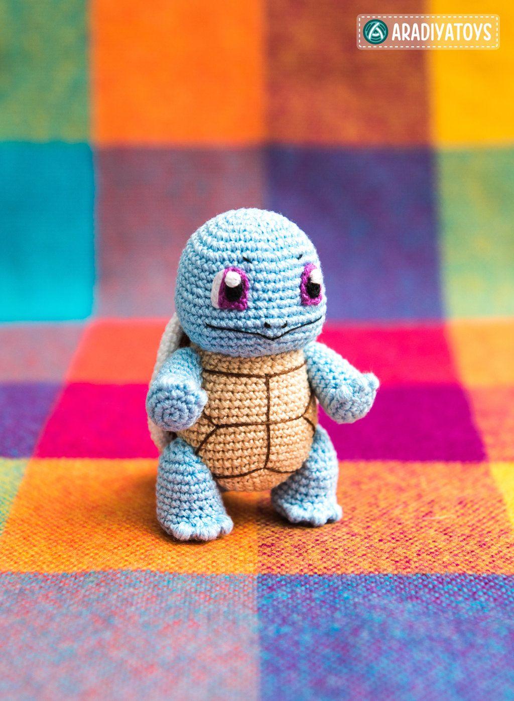 Squirtle from \'Pokemon\', amigurumi pattern by AradiyaToys on ...