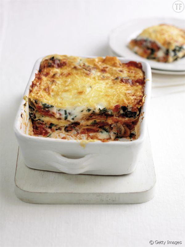 La recette des lasagnes végétariennes aux épinards