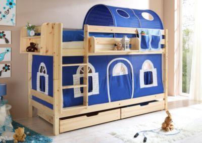 Etagenbett Ticaa Marcel : Ticaa etagenbett marcel kiefer natur blau weiß jetzt bestellen unter
