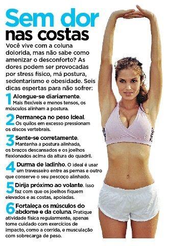 Sem Dor Nas Costas Saudavel Fitness Exercicio Para Postura
