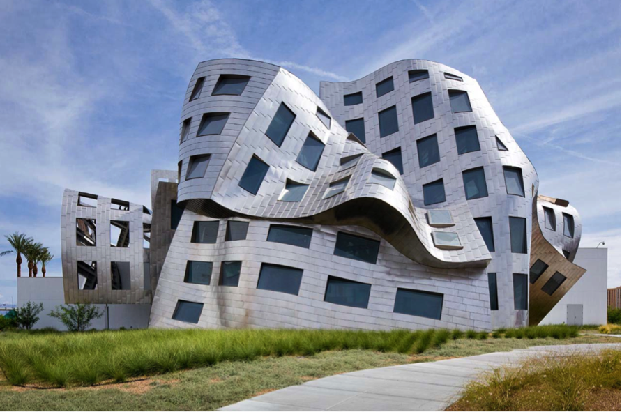 a deconstructivist one will provide texture and emphasis on its structural components..