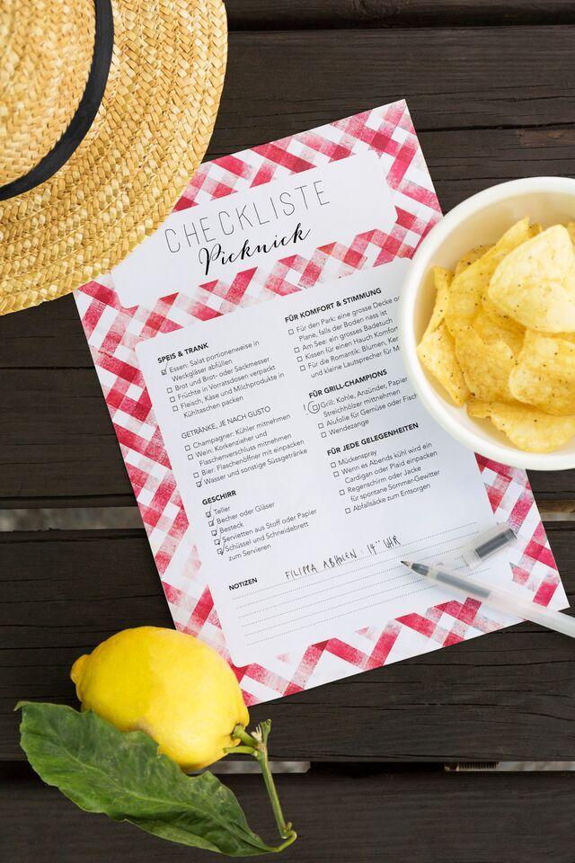 Picknick Checkliste