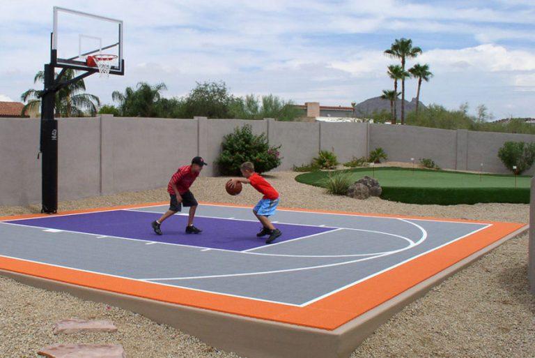 Basketball Court In Backyard | JanielinSmith | Basketball ...