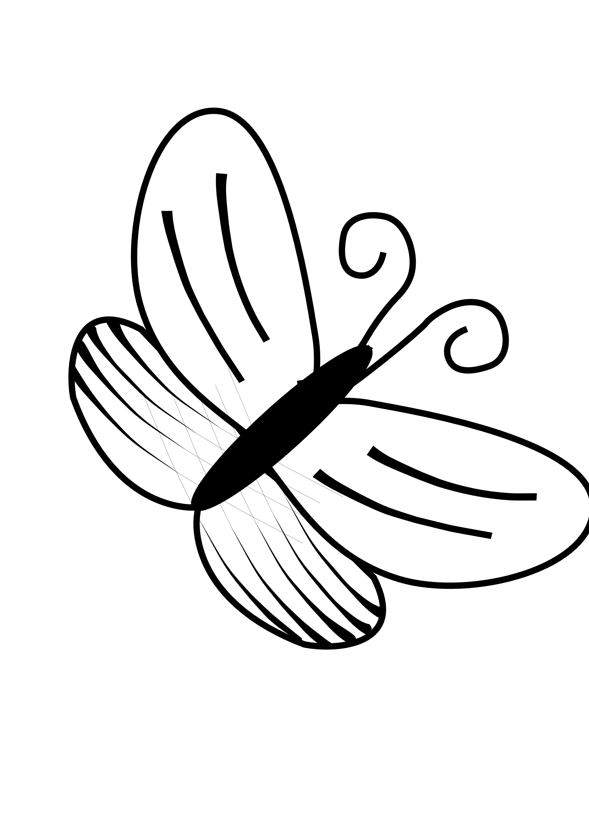 hight resolution of line drawings of butterflies clipart best