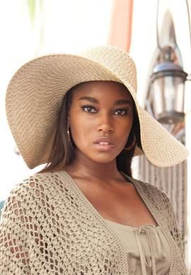 Protect your face from the sun this summer with this plus size floppy straw  hat! 0f623432fd0