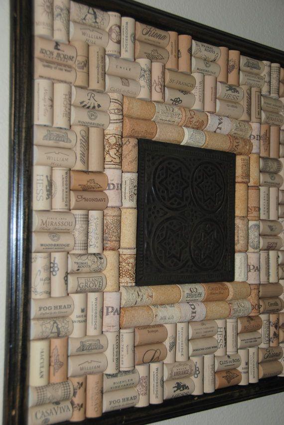 Wine Cork Board with Tin Centerpiece di GulfCoasters su Etsy