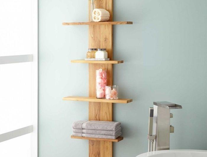 etagere salle de bain meuble rangement