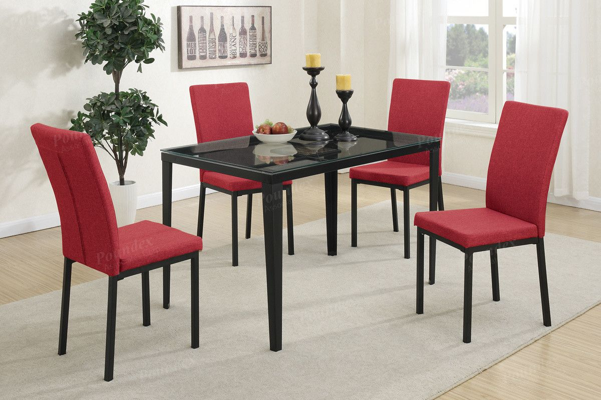 Poundex Poundex Arm Chair & Dining Chair F1538 2Piece  Dining Glamorous 2 Piece Dining Room Set 2018