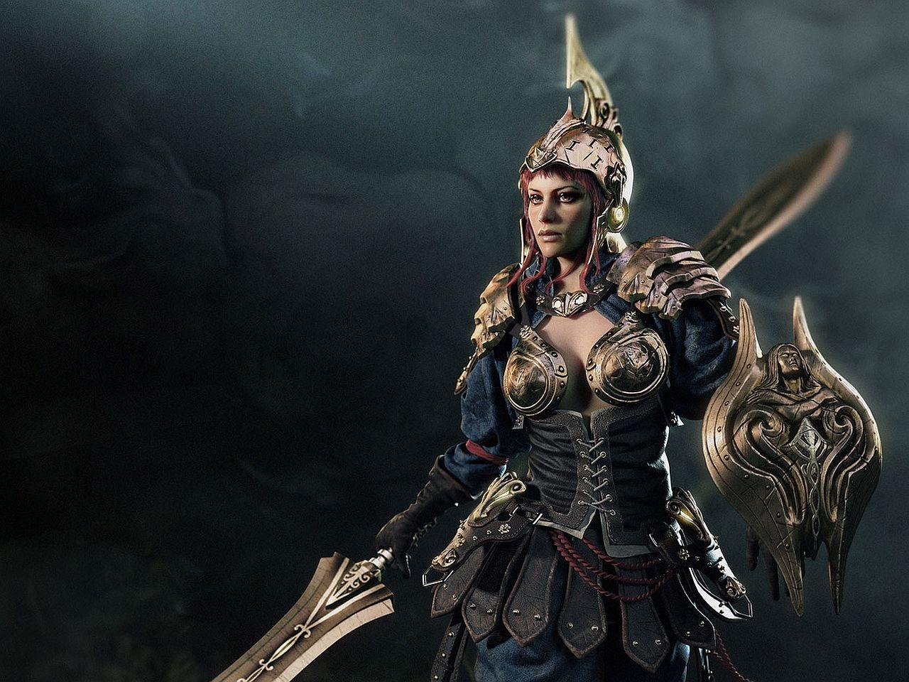 Fantasy Art Women Warriors | Kriegerin Computer Wallpapers, Desktop Backgrounds 1280x960 Id: 384083