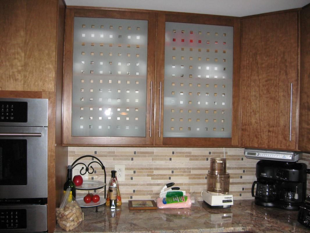 Window kitchen cabinet doors  etched glass kitchen cabinet doors  kitchen  pinterest  glass