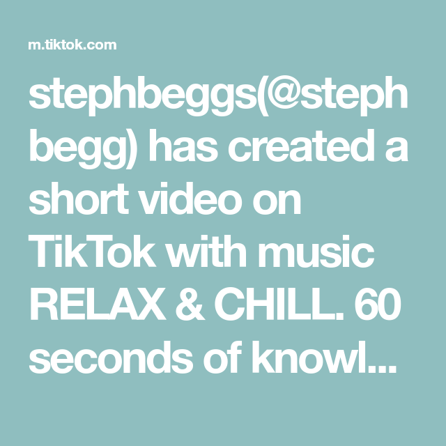 Stephbeggs Stephbegg Has Created A Short Video On Tiktok With Music Relax Chill 60 Seconds Of Knowledge Recognizing Nursing Students Study Tips Nclex