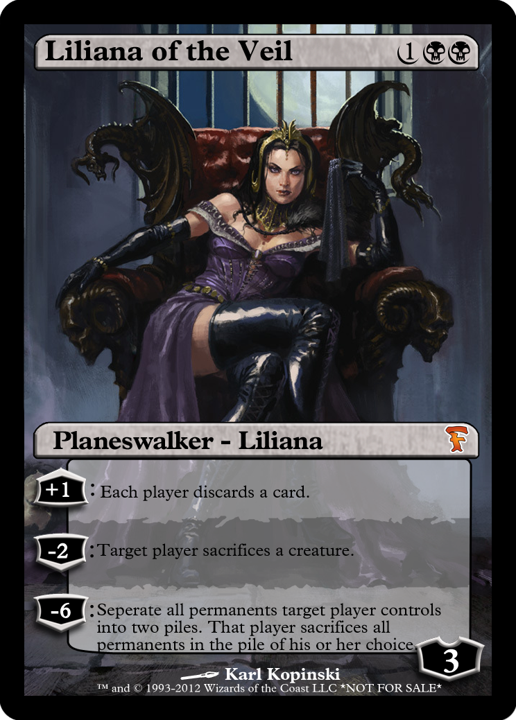 Liliana Of The Veil Magic The Gathering Cards Mtg Altered Art Magic The Gathering