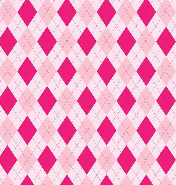 Pink princess argyle pattern papel puntos y rayas for Papel decorativo rayas