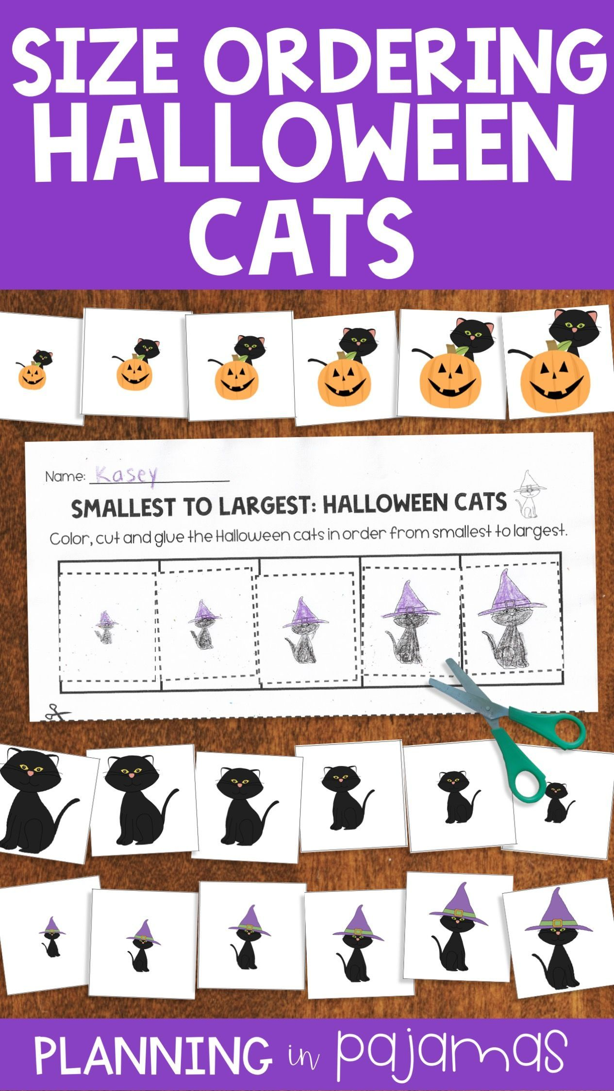 Halloween Black Cats Size Ordering From Smallest To
