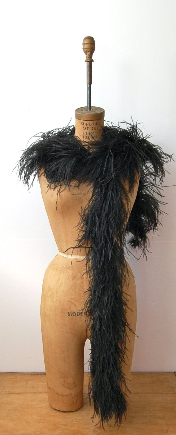 Vintage 1920s 1930s Feather Boa - Flapper Ostrich Feathers ...