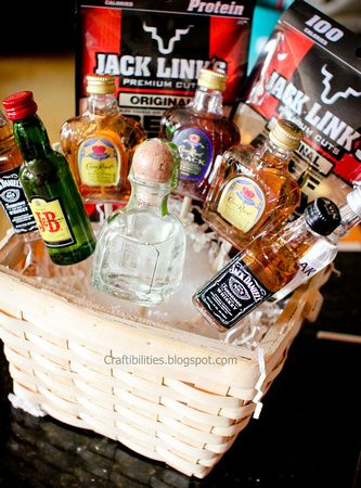 Basket Of Booze Could Add Some Shot Glasses And Mixers Guy Birthday Presents Boss