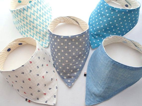 Baby Bibs,Set of 5,Baby Bandana Bib,Reversible,--$34.9  -by Jingle Bib
