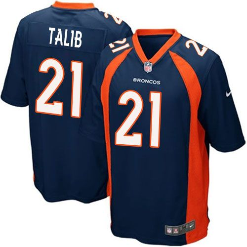 (Game Nike Men s Champ Bailey Navy Blue Super Bowl XLVIII Jersey) Denver Broncos  Alternate  24 NFL Easy Returns. bfca495c4