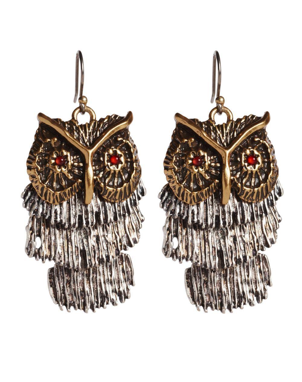 Shaky Owl Earrings Lucky Brand Jeans
