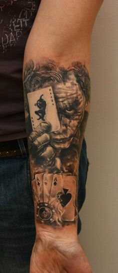 The Detail I Love The Joker Tattoo Ideas Tattoos Picture