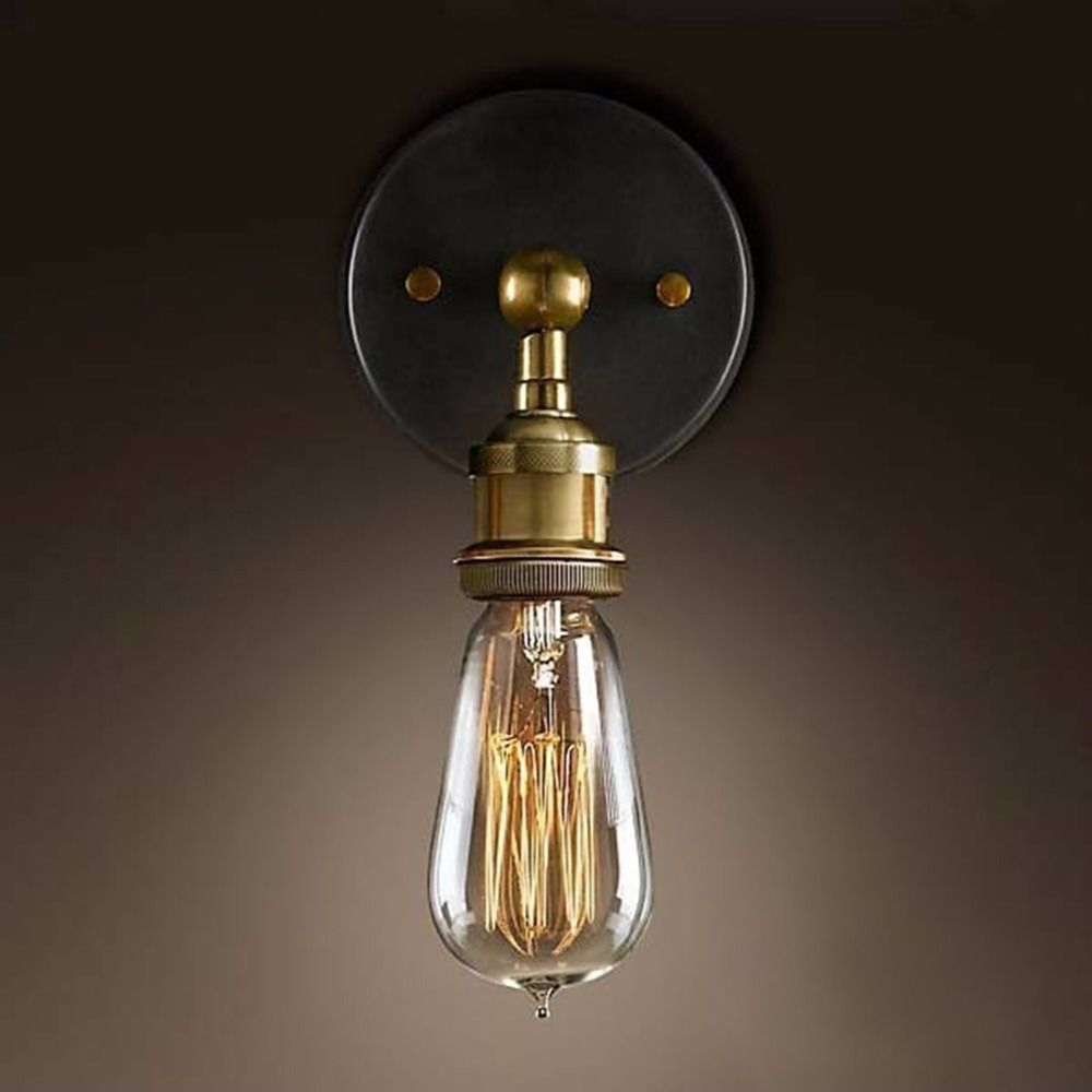 Sanyi Vintage Classic Light E27 Plated Loft American Retro Vintage ... for Vintage Classic Wall Lamp  155sfw