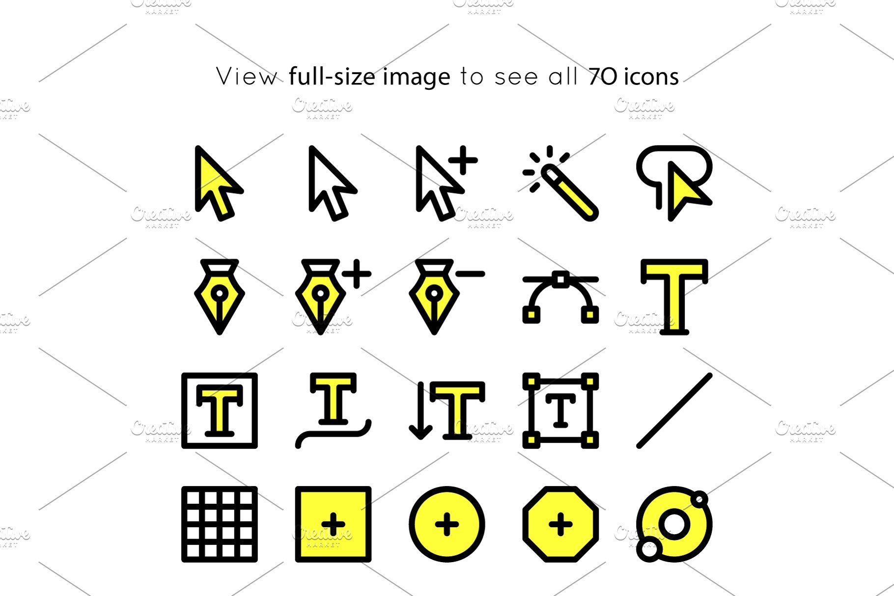 BOLD icons Adobe Illustrator tools AdobeiconsBOLDIcons