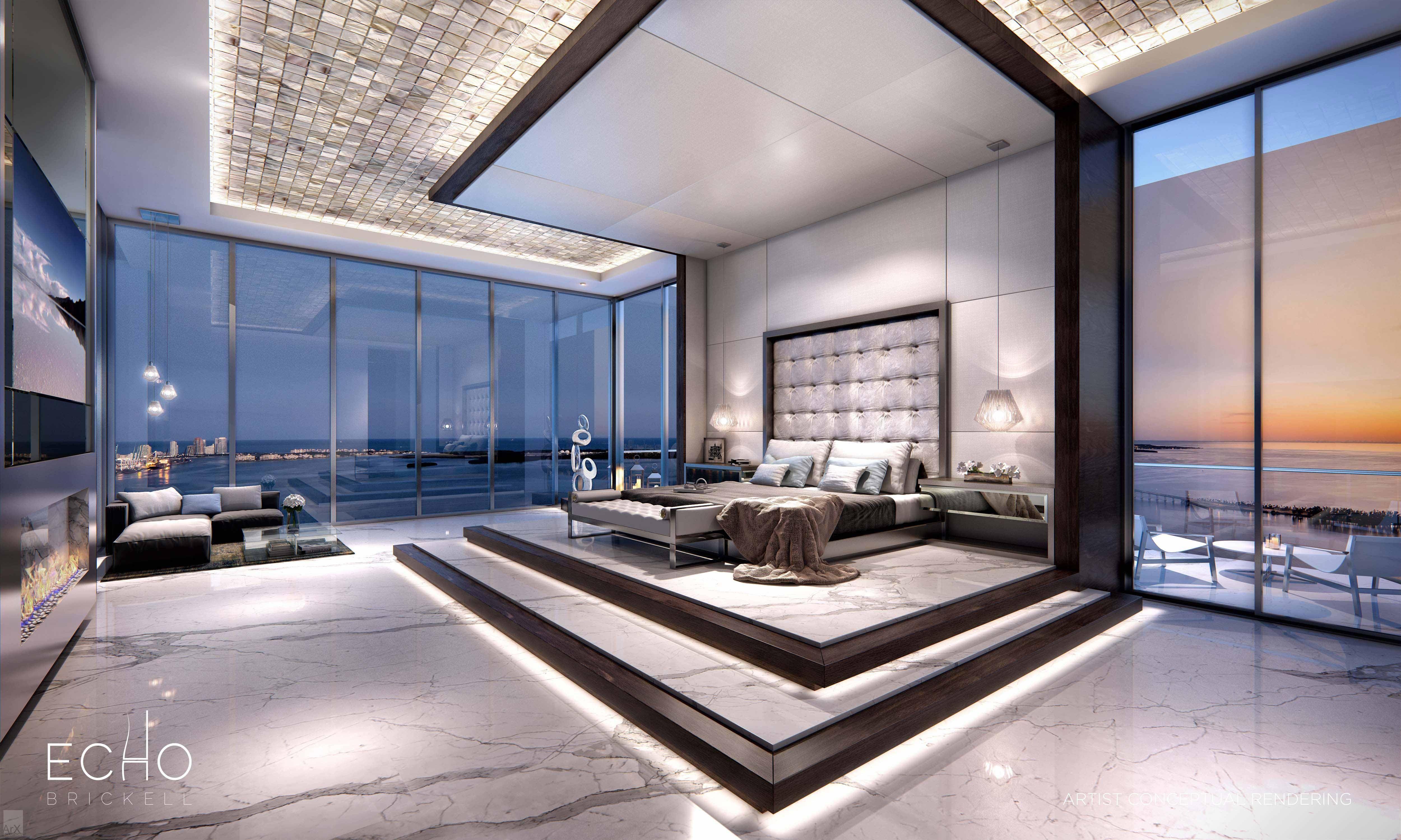 Cabina Armadio Moderna Miami : Amazing master bedroom in the echo brickell in miami fl