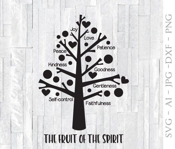 Fruit Of Spirit Tree Svg Svg Clipart For Cricut