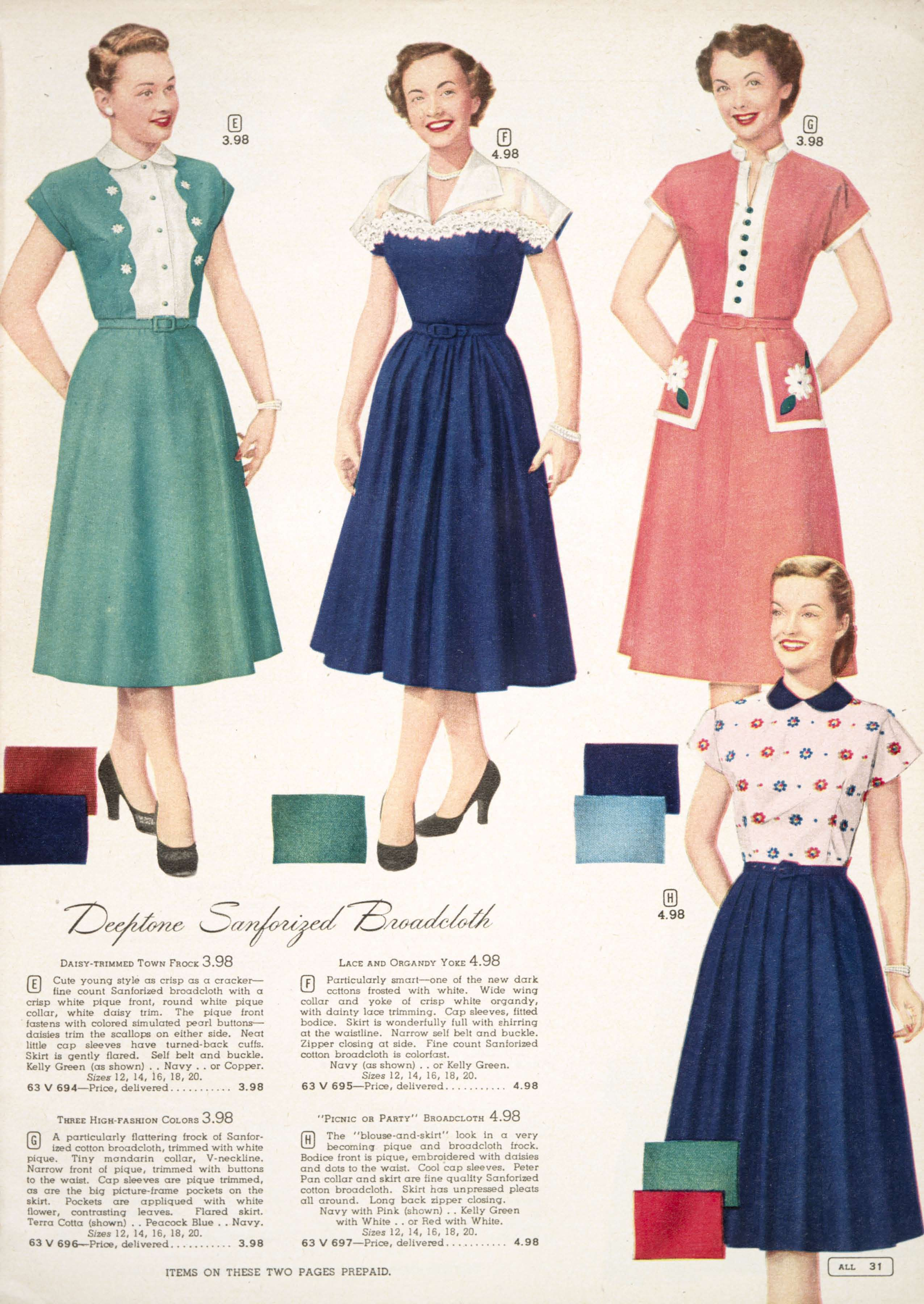 Lovely spring fashion from the Simpson\'s Spring and Summer catalog ...