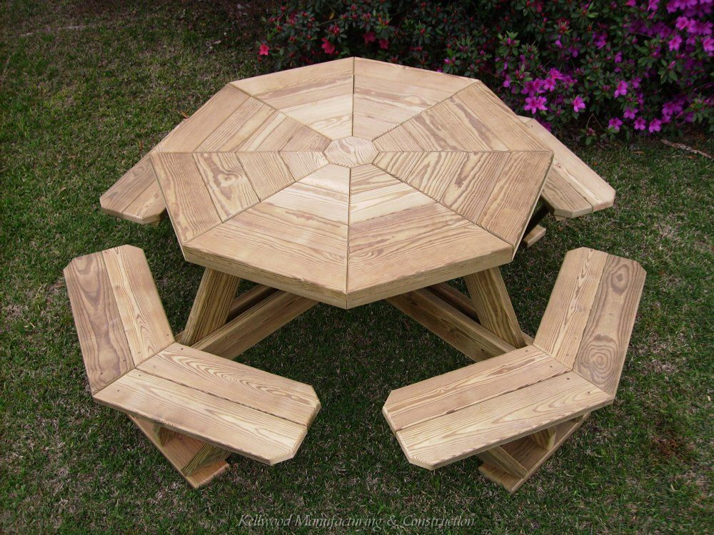Build Your Shed Octagonal Picnic Table Plans An